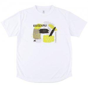 EGOZARU(エゴザル) Graphic Gouache Tee(グラフィックガッシュTシャツ) 白
