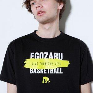 EGOZARU(エゴザル) Overwrite Gouache Tee(オーバーライトガッシュTシャツ) 黒