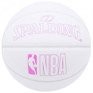 SPALDING(スポルディング)  NBA Innocence Composite Ball(NBAイノセンス合成皮革ボール) 白/ピンク/7号