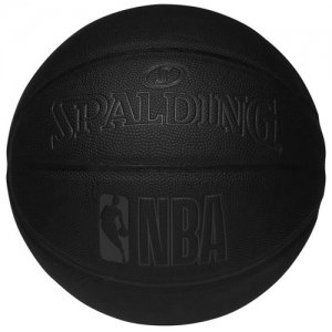 SPALDING(スポルディング)  NBA Dirk Knight Composite Ball(NBAダークナイト合成皮革ボール) オールブラック/7号