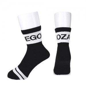 EGOZARU(エゴザル) Thick Line Socks(シックラインソックス/靴下) 黒/白