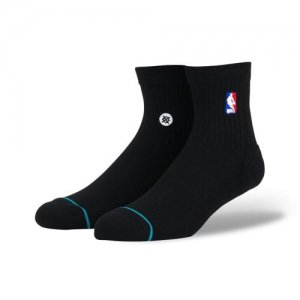 STANCE(スタンス) NBA Logoman QTR Socks(NBAロゴマンクウォーターソックス/靴下) 黒