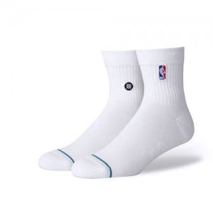 <img class='new_mark_img1' src='//img.shop-pro.jp/img/new/icons14.gif' style='border:none;display:inline;margin:0px;padding:0px;width:auto;' />STANCE(スタンス) NBA Logoman QTR Socks(NBAロゴマンクウォーターソックス/靴下) 白
