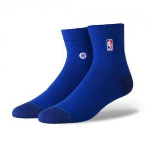 <img class='new_mark_img1' src='//img.shop-pro.jp/img/new/icons14.gif' style='border:none;display:inline;margin:0px;padding:0px;width:auto;' />STANCE(スタンス) NBA Logoman QTR Socks(NBAロゴマンクウォーターソックス/靴下) ロイヤルブルー