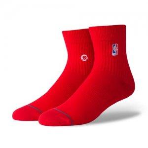 STANCE(スタンス) NBA Logoman QTR Socks(NBAロゴマンクウォーターソックス/靴下) 赤