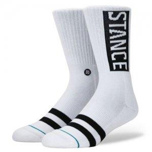 STANCE(スタンス) OG Crew Socks(OGクルーソックス/靴下) 白/黒