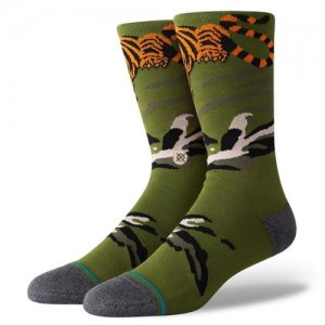 STANCE(スタンス)Big Cat Crew Socks (ビッグキャットクルーソックス/靴下) グリーン