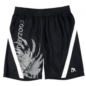EGZARU(エゴザル) Front Switching Toughness Shorts(フロントスウィッチングタフネスショーツ/バスパン) 黒/白