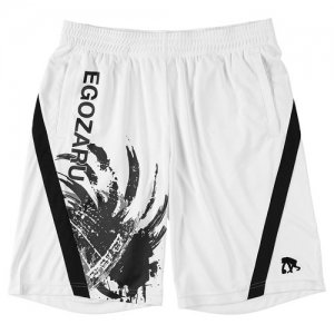 EGZARU(エゴザル) Front Switching Toughness Shorts(フロントスウィッチングタフネスショーツ/バスパン) 白/黒