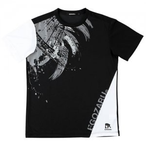 EGOZARU(エゴザル) Switching Toughness Tee(スウィッチングタフネスTシャツ) 黒/白