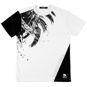 EGOZARU(エゴザル) Switching Toughness Tee(スウィッチングタフネスTシャツ) 白/黒