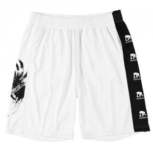 EGZARU(エゴザル) Side Print Toughness Shorts(サイドプリントタフネスショーツ/バスパン) 白/黒