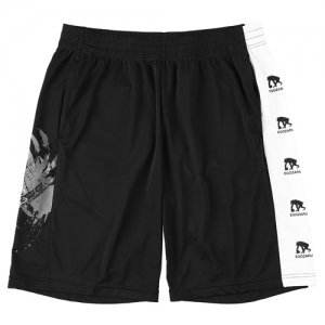 EGZARU(エゴザル) Side Print Toughness Shorts(サイドプリントタフネスショーツ/バスパン) 黒/白