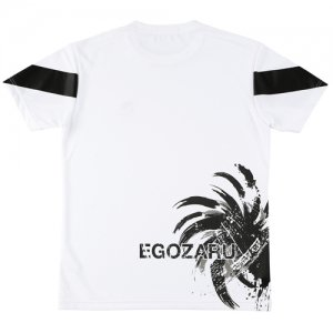 EGOZARU(エゴザル) Back Print Toughness Tee(バックプリントタフネスTシャツ) 白/黒