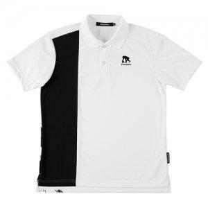 EGOZARU(エゴザル) Vertical Toughness Polo(バーティカルタフネスポロシャツ) 白/黒