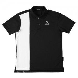 EGOZARU(エゴザル) Vertical Toughness Polo(バーティカルタフネスポロシャツ) 黒/白