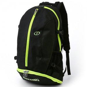 【バスケ用品が1つまとまる!!】SPALDING(スポルディング) Giant Cager Backpack(ジャイアントケイジャーバックパック/リュック) 黒/ライムグリーン