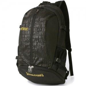 【バスケ用品が1つまとまる!!】SPALDING(スポルディング) Giant Cager Backpack(ジャイアントケイジャーバックパック/リュック) 黒/ティービー