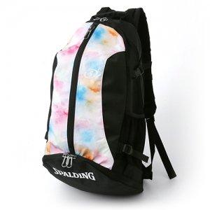 【バスケ用品が1つまとまる!!】SPALDING(スポルディング) Cager Backpack(ケイジャーバックパック/リュック) タイダイレインボー