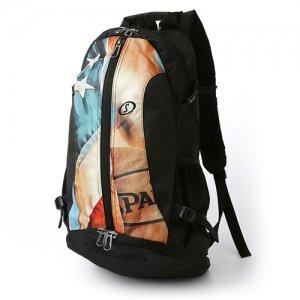 【バスケ用品が1つまとまる!!】SPALDING(スポルディング) Cager Backpack(ケイジャーバックパック/リュック) USフラッグ