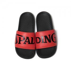 【スモールサイズモデル】SPALDING(スポルディング) Ladys Sports Sandal(レディーススポーツサンダル) 黒/赤