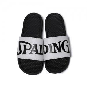 【スモールサイズモデル】SPALDING(スポルディング) Ladys Sports Sandal(レディーススポーツサンダル) 黒/白