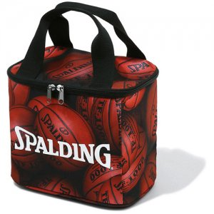 【ペットボトル6本収納】SPALDING(スポルディング) Cooler Bag(クーラーバッグ) ブラウンボール柄