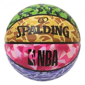 【ラバーボール(外用)】SPALDING(スポルティング) Mixcamo Rubber Ball(ミックスカモラバーボール) ミックスカモ/7号