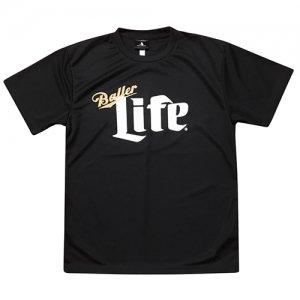 HITH(フープインザフッド/ヒス) Baller Life Dry Tee(ボーラーライフドライTシャツ) 黒