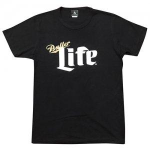HITH(フープインザフッド/ヒス) Baller Life Brend Tee(ボーラーライフブレンドTシャツ) 黒