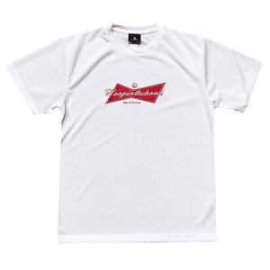 HITH(フープインザフッド/ヒス) Be A King Dry Tee(ビーアキングドライTシャツ) 白/赤