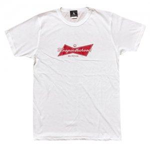 HITH(フープインザフッド/ヒス) Be A King Brend Tee(ビーアキングブレンドTシャツ) 白/赤