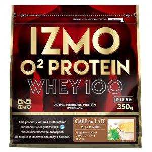【生きた乳酸菌BC-30配合!日本人のためのプロテイン!!】IZMO(イズモ) O2 Protein Whey100(O2プロテイン・ホーエイ100) 350g(約18食分)/カフェオレ