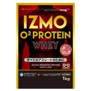 【生きた乳酸菌BC-30配合!日本人のためのプロテイン!!】IZMO(イズモ) O2 Protein Whey100(O2プロテイン・ホーエイ100) 1kg(約50食分)/ストロベリー