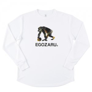 EGOZARU(エゴザル) Speed Logo Long Tee(スピードロゴロングTシャツ/ロンT) 白