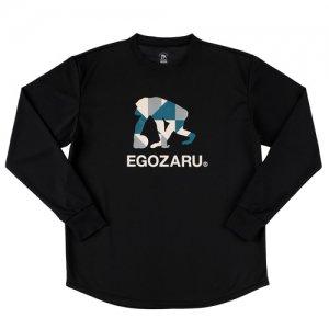EGOZARU(エゴザル) Polygon Logo Long Tee(ポリゴンロゴロングTシャツ/ロンT) 黒
