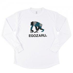 EGOZARU(エゴザル) Polygon Logo Long Tee(ポリゴンロゴロングTシャツ/ロンT) 白