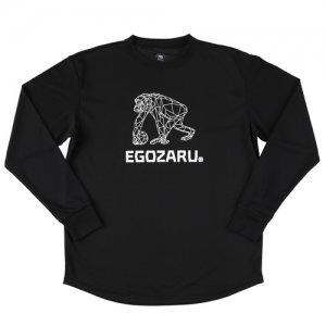 EGOZARU(エゴザル) Polygon Mesh Logo Long Tee(ポリゴンメッシュロゴロングTシャツ/ロンT) 黒