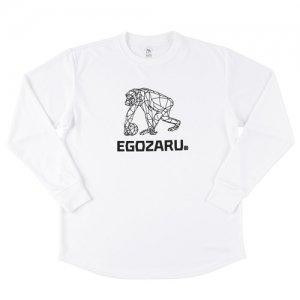 EGOZARU(エゴザル) Polygon Mesh Logo Long Tee(ポリゴンメッシュロゴロングTシャツ/ロンT) 白