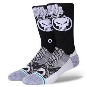 <img class='new_mark_img1' src='//img.shop-pro.jp/img/new/icons14.gif' style='border:none;display:inline;margin:0px;padding:0px;width:auto;' />STANCE(スタンス) Punisher Crew Socks(パニッシャークルーソックス/靴下) 黒/白