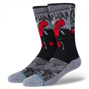 <img class='new_mark_img1' src='//img.shop-pro.jp/img/new/icons14.gif' style='border:none;display:inline;margin:0px;padding:0px;width:auto;' />STANCE(スタンス) Deadpool Crew Socks(デッドプールクルーソックス/靴下) 黒