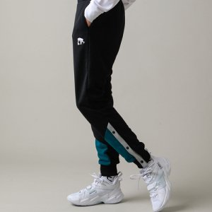 EGOZARU(エゴザル) Hem Switching Sweatpants(ヘムスウィッチングスウェットパンツ) 黒