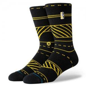 STANCE(スタンス) NBA Logoman Traffic Crew Socks(NBAロゴマントラフィッククルーソックス/靴下) 黒/イエロー