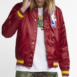 【NBA×NIKE SB 限定コラボ!!】NIKE SB NBA Bomber Jacket(NBAボンバージャケット/スタジャン) バーガンディ/ゴールド
