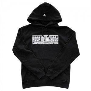 【冬のウォームアップに!!】HITH(フープインザフッド/ヒス) Logo Pullover  Hoodie(ロゴプルオーバーフーディー/パーカー) 黒/白