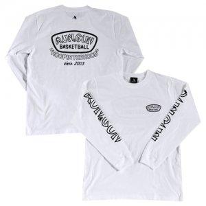 HITH(フープインザフッド/ヒス) RUNGUN Monoqlo Longsleeve Tee(ランガンモノクロームロングスリーブTシャツ/ロンT) 白