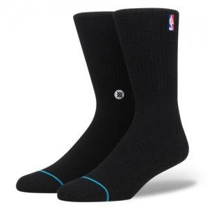 STANCE(スタンス) NBA Logoman Crew Socks(NBAロゴマンククルーソックス/靴下) 黒