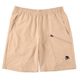 EGOZARU(エゴザル) Slant Zip Outcourt Pants(スラントジップアウトコートパンツ/バスパン) ベージュ