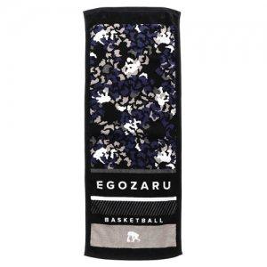 EGOZARU(エゴザル) Leopard Face Towel B(レオパードフェイスタオルB) 黒