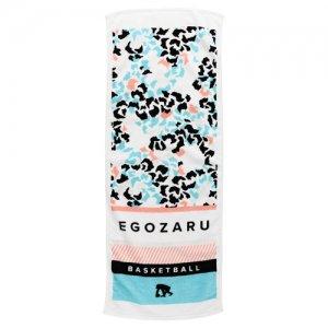 EGOZARU(エゴザル) Leopard Face Towel C(レオパードフェイスタオルC) 白